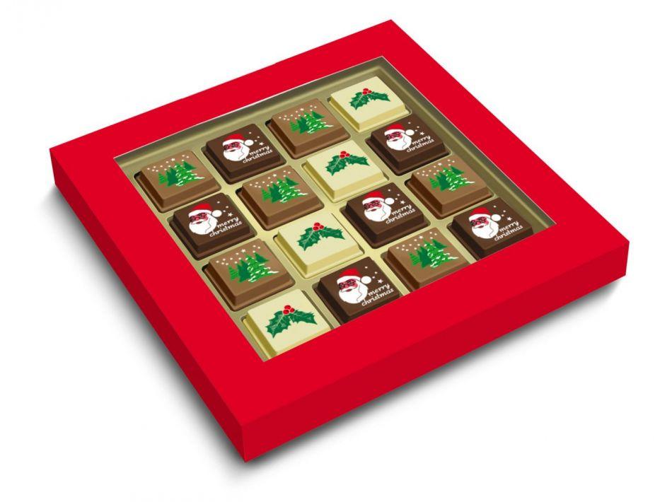 Kerstchocolade bonbons 16 stuks